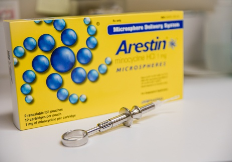 Arestin antibiotics for gum disease treatment
